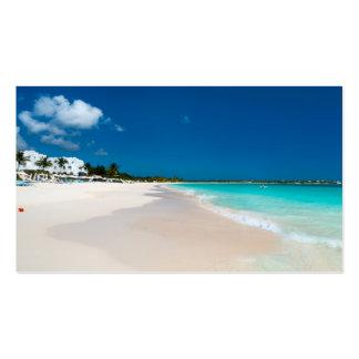 Ocean beach business card template