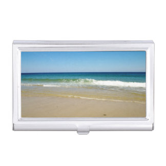 Ocean beach business card holder