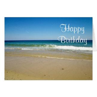 Ocean beach card
