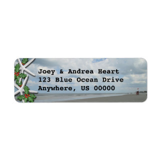 Ocean Beach Custom Holiday Address Labels