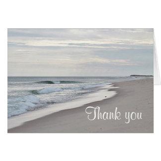 Ocean beach in soft colors card