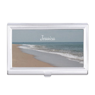 Ocean Beach on Cape Cod Business Card Holder