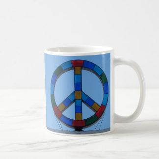 Ocean Beach Peace Sign Basic White Mug