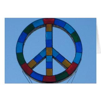 Ocean Beach Peace Sign Card