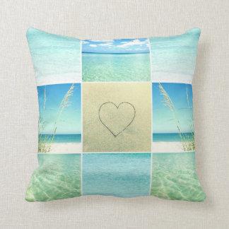 Ocean Beach Photo Collage Pillow