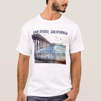 OCEAN BEACH PIER J PEC, SAN DIEGO, CALIFORNIA T-Shirt