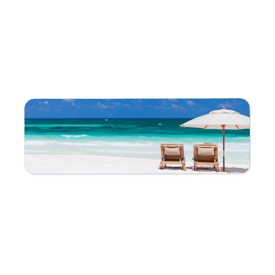 Ocean beach return address label