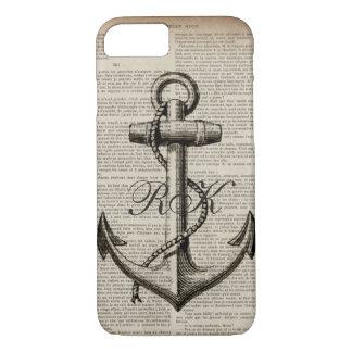 ocean beach  sailor vintage nautical anchor iPhone 8/7 case