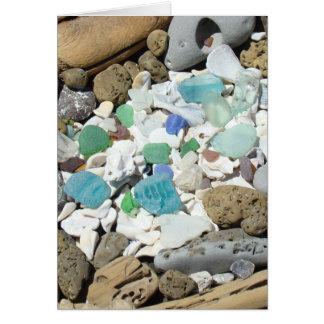 Ocean Beach Sea Glass Seashells Fossils Cards