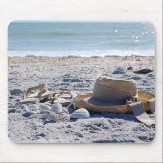 Ocean, beach, sea shells mouse pad