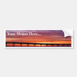 Ocean Beach Sunset Bumper Stickers