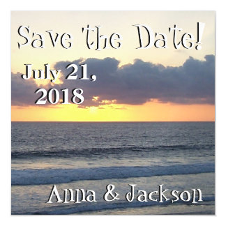 Ocean Beach Sunset Save Date Magnet Card Magnetic Invitations