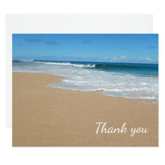 Ocean Beach Surf and Sand Thank You Card