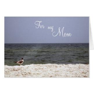 Ocean Beach View Mother's Card Inside Poem