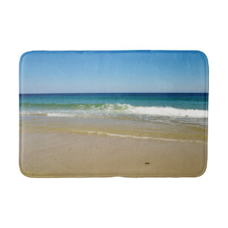Ocean beach waves bath mat