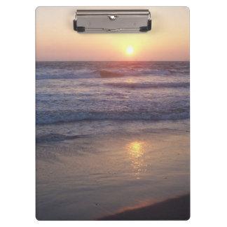 Ocean Beach Waves Sunset Clipboard