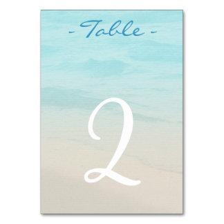 Ocean Beach Wedding Table Number Card