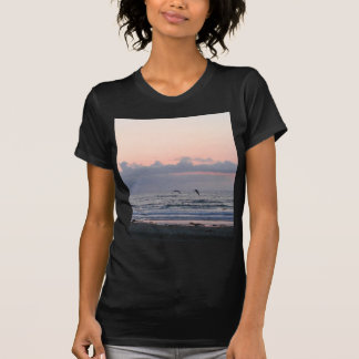 Ocean Beaches Sunset Clouds Palm Trees Tee Shirts