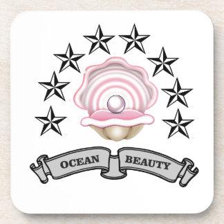 ocean beauty pearl beverage coaster
