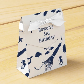 Ocean Birthday Favor Box with custom text