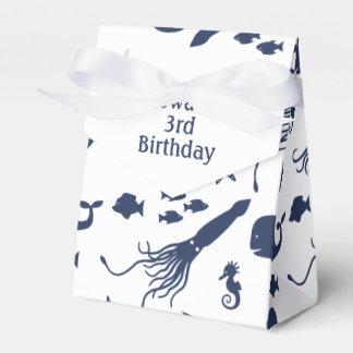 Ocean Birthday Favour Box with custom text