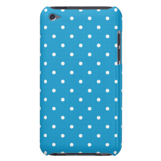 Ocean Blue 50's Style Polka Dot iPod Touch G4 Case iPod Touch Cover