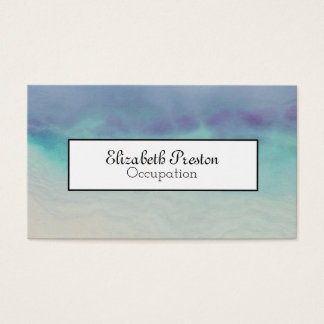 Ocean Blue Abstract Professional Business Card