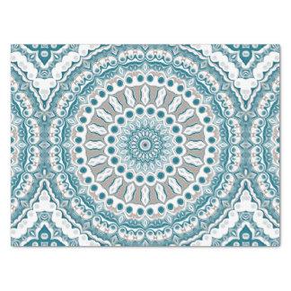 Ocean Blue and White Nautical Mandala Design Tissue Paper