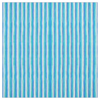 Ocean blue and white stripes fabric