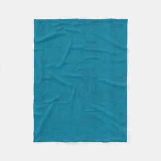 Ocean Blue Color Velvet Look Fleece Blanket