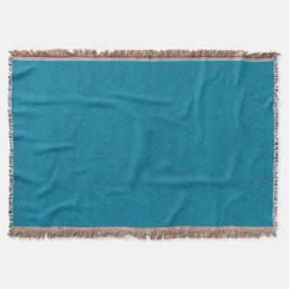 Ocean Blue Color Velvet Look Throw Blanket