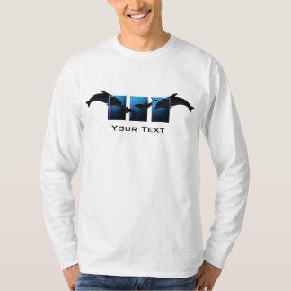 Ocean Blue Dolphins Mens LS T-shirt