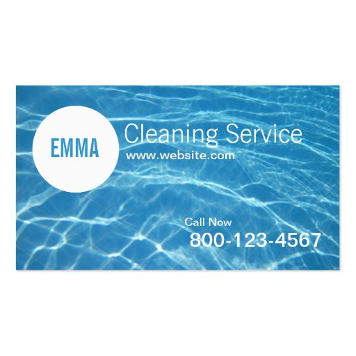 Ocean Blue House Cleaning Service business card