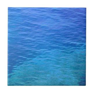 Ocean blue more water waves ceramic tile