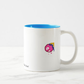 Ocean Blue Mug With Shrimpy Electric Pink Squid