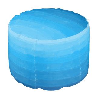 Ocean Blue Ombre Pouf