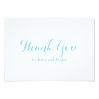 Ocean Blue Personalized Thank You Notes 9 Cm X 13 Cm Invitation Card