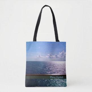 Ocean Blue Personalized Tote Bag