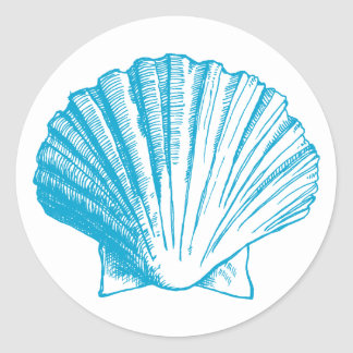 Ocean Blue Sea Shell Sticker