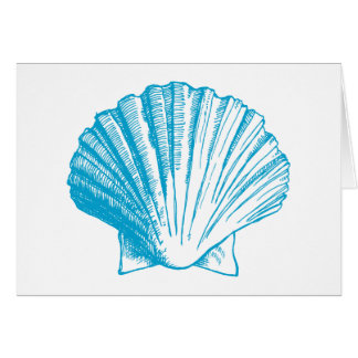 Ocean Blue Sea Shell Thank You Note Cards