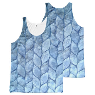 Ocean Blue Shells All-Over Print Tank Top