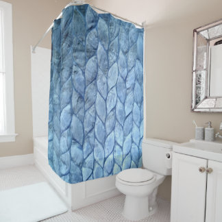 Ocean Blue Shells Shower Curtain