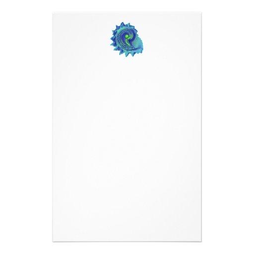 Ocean Blue Spiral Sea Shell Stationery