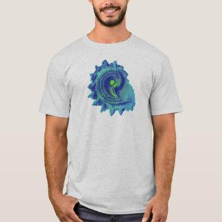 Ocean Blue Spiral Sea Shell T-Shirt