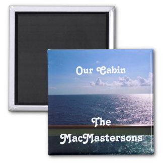 Ocean Blue Stateroom Door Marker Refrigerator Magnets