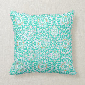 Ocean Blue Turquoise Medallion Throw Pillow