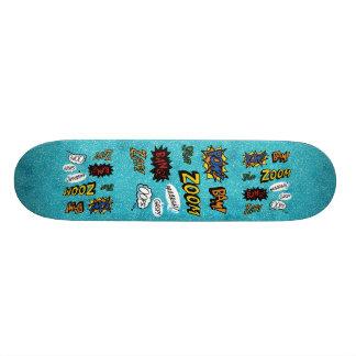 Ocean blue zoom kaboom skate board decks