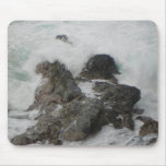 Ocean Breaking on the Rocks Mouse Pad