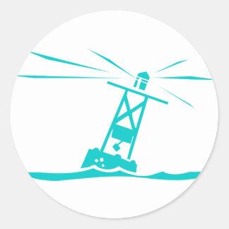 Ocean buoy classic round sticker