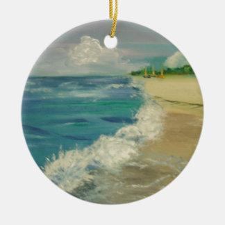 ocean ceramic ornament
